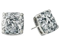 Kate Spade Small Square Studs Silver Glitter Silver Earring