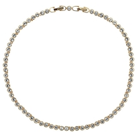 Cachet London Swarovski Crystal Tennis Necklace Gold Plated