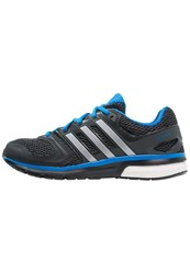 Adidas Performance Questar Boost Cushioned Running Shoes Core Black Silver Metallic Shock Blue
