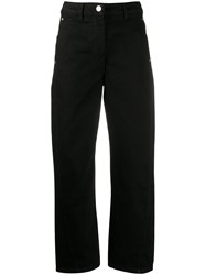 Christophe Lemaire Denim Cropped Jeans Black