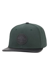 Converse Monochrome Cap With Faux Leather Brim Gloom Green