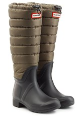 Hunter Quilted Wellington Boots Green