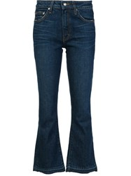 Derek Lam 10 Crosby Flared Cropped Jeans Blue