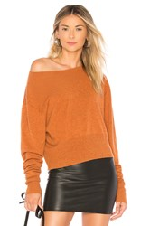 Autumn Cashmere Crop Boxy Sweater Burnt Orange