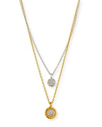 Gurhan Delicate Diamond Pave Double Strand Pendant Necklace