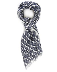 Scotch And Soda Blue Ikat Scarf