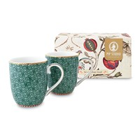Pip Studio Spring To Life Mugs Green Set Of 2 Small