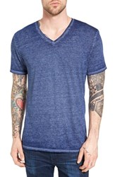 The Rail Men's Burnout Nepped V Neck T Shirt