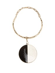Etro Ceramic Disc Necklace Black White