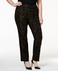 Jm Collection Plus Size Snakeskin Print Straight Leg Pants Only At Macy's Lizzy Skin