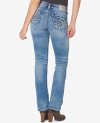 Silver Jeans Co. Suki High Rise Medium Blue Wash Bootcut Indigo
