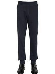 Lanvin Cotton Jogging Pants With Mesh Details