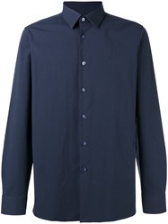 Raf Simons Button Up Logo Shirt Blue