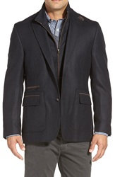 Kroon 'P. Funk' Classic Fit Wool And Cashmere Sport Coat Black