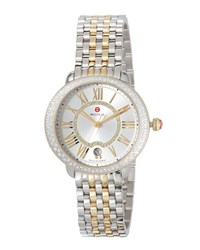 Michele Serein Mid Two Tone Diamond Watch