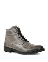 Gbx Bro Cap Toe Leather Boots Grey