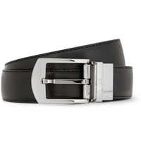Alfred Dunhill Black 3Cm Cut To Fit Textured Leather Belt
