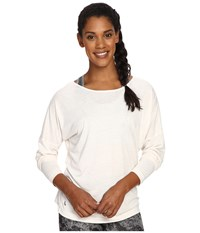 Lole Libby Long Sleeve Top White Heather Women's Long Sleeve Pullover