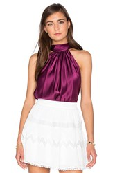 Ramy Brook Paige Tie Neck Tank Wine