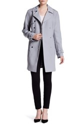 Kenneth Cole Double Breasted Raincoat Gray