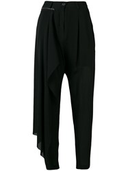 Isabel Benenato Removable Panel Trousers Black
