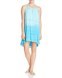 Red Haute Beach Day Ombre Dress Aqua