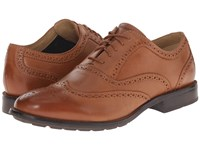 Sebago Dresden Wing Tip Tan Leather Men's Lace Up Wing Tip Shoes