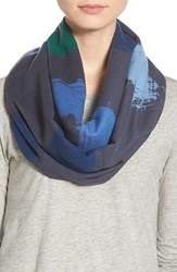 Women's Chelsey 'Clouds' Silk Infinity Scarf Blue Blue Charcoal Green Navy