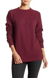 Obey Shadow Stripe Crew Sweater Red