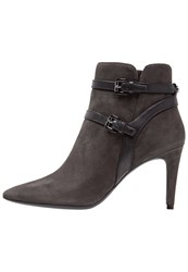 Michael Michael Kors High Heeled Ankle Boots Charcoal Grey