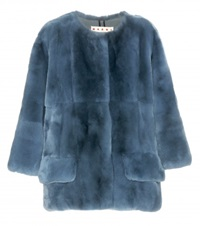 Marni Fur Jacket Blue
