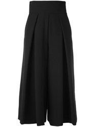 Milly Cropped Palazzo Pants Black