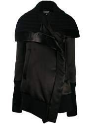 Ann Demeulemeester Sweater Accent Oversized Coat Black