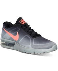 Nike Men's Air Max Sequent Running Sneakers From Finish Line Metallic Silver Bright Cr