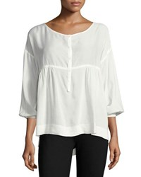 Max Studio Solid Shirting Blouse Off White