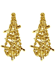 Tom Binns 'Punk Chic' Safety Pin Earrings Metallic