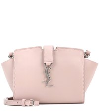 Saint Laurent Toy Cabas Leather Shoulder Bag Pink