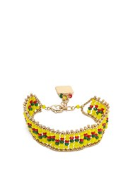 Rosantica By Michela Panero Striped Beaded Bracelet Yellow