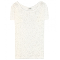 Saint Laurent Mesh T Shirt Naturel