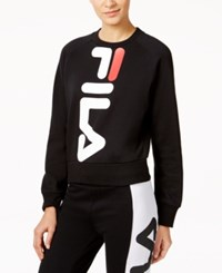 Fila Kristy Cropped Sweatshirt Black