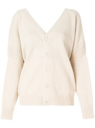 See By Chloe Chunky V Neck Cardigan Nude And Neutrals