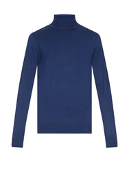 Sunspel Roll Neck Merino Wool Sweater