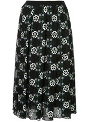 Giambattista Valli Floral Embroidered Skirt Black