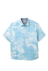 Tommy Bahama Grande Fronds Short Sleeve Print Shirt Big And Tall Blue Radia