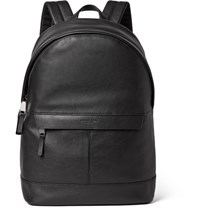 Michael Kors Full Grain Leather Backpack Black