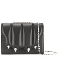 Marco De Vincenzo Quilted Paw Flap Crossbody Bag Black