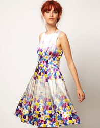 Asos Salon Floral Midi Prom Dress Print