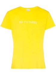 Nasaseasons No Pictures Embroidered Cotton T Shirt Yellow