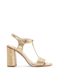 Louise Et Cie Gabbin Leather Dress Sandals Gold