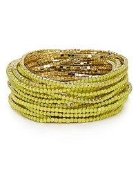 Abs By Allen Schwartz Stretch Bangles Set Of 20 Yellow